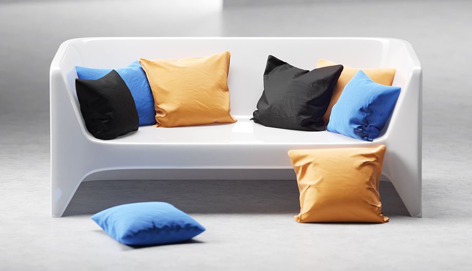 Pillows free 3d model